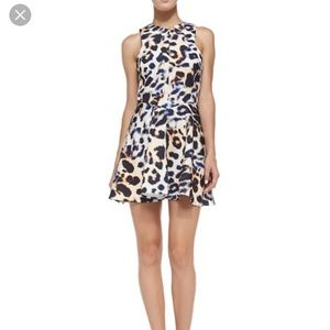 Cameo leopard fit and flare dress